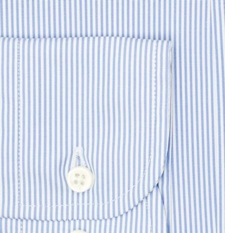 Camisa Formal Wear REGULAR FIT modelo BUTTON DOWN tejido rayas color azul,100% Algodón. - Ítem2