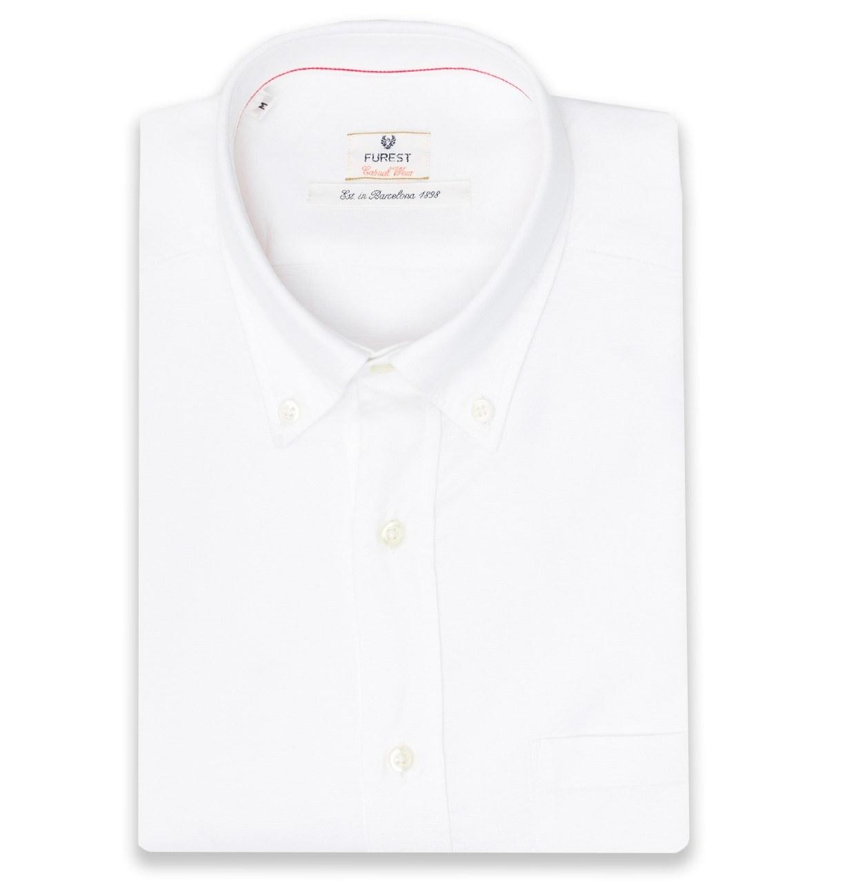 Camisa Casual Wear SLIM FIT Modelo BOTTON DOWN color blanco, 100% Algodón.