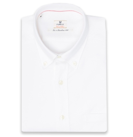 Camisa Casual Wear SLIM FIT Modelo BOTTON DOWN color blanco, 100% Algodón.