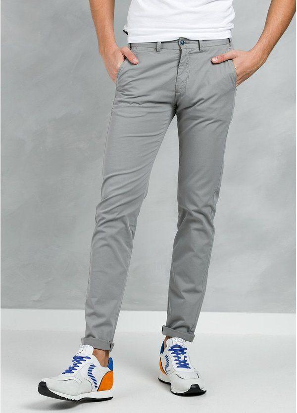 Pantalón Casual Wear, SLIM FIT micro textura color gris, 97% Algodón 3% Elastómero.