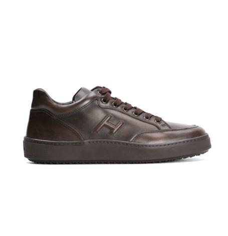 Calzado sport SNEAKER H-302 NEW URBAN color marrón, 100% Piel.