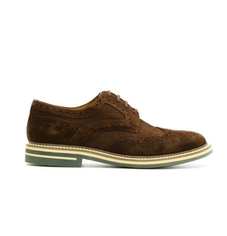 Zapato Formal Wear color marrón, 100% Ante