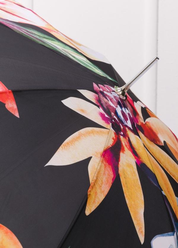 Paraguas con estampado floral color negro y puño transparente. - Ítem2