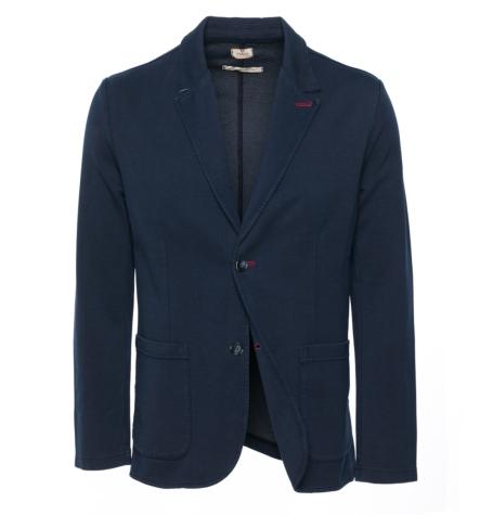 Americana Formal Wear tipo punto, color azul marino, 85% Algodón 10% Poliamida 5% Elastán