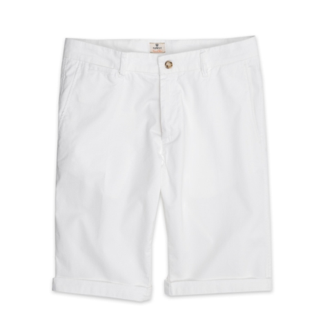 Short Furest Casual Wear color blanco, 100% Algodón.