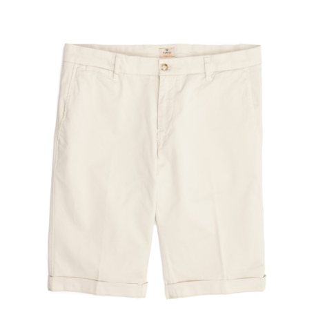 Short Furest Casual Wear color beige, 100% Algodón.