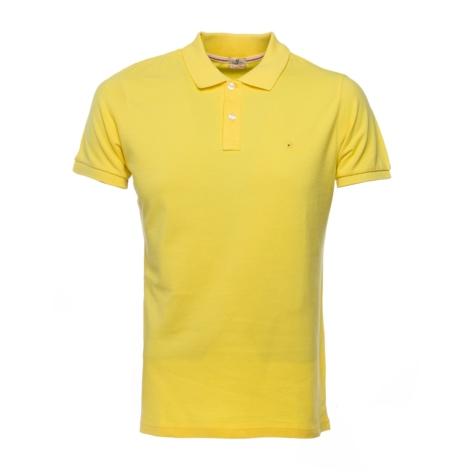 Washed Cotton-Pique Polo Shirt color amarillo, 100% Algodón.