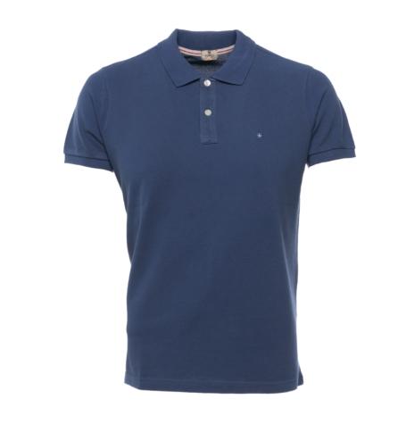Washed Cotton-Pique Polo Shirt color indigo, 100% Algodón.