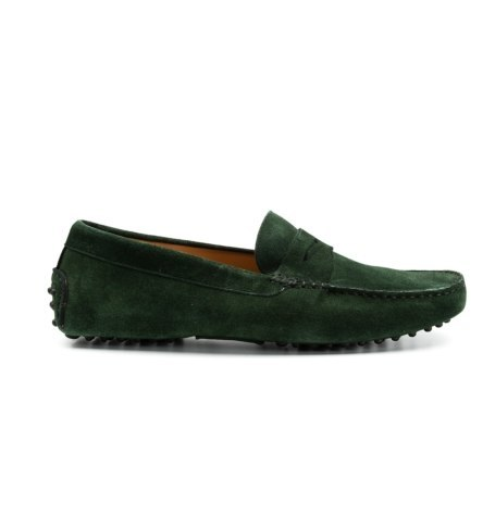 Zapato mocasín Sport, color verde, 100% Piel Softy