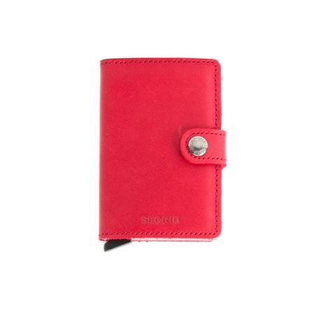 Secrid slim wallet piel color rojo, con cardprotector de aluminio ultrafino.