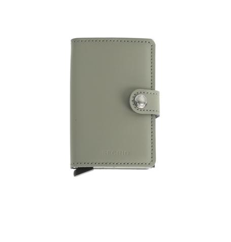 Secrid slim wallet piel color verde, con cardprotector de aluminio ultrafino.
