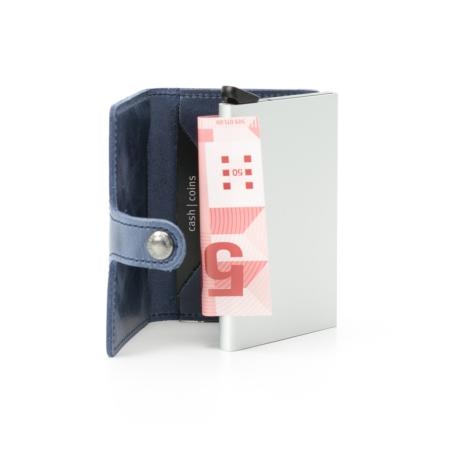 Secrid slim wallet piel color azul, con cardprotector de aluminio ultrafino. - Ítem1