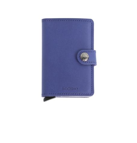 Secrid slim wallet piel color indigo, con cardprotector de aluminio ultrafino.