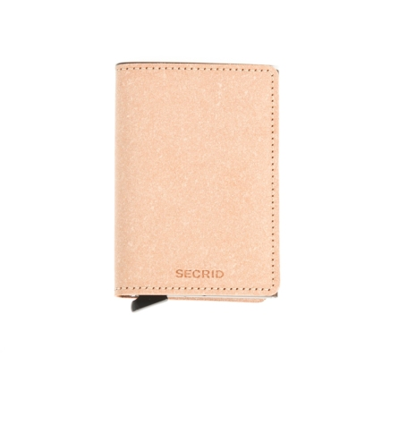 Secrid slim wallet color piel natural, con cardprotector de aluminio ultrafino.