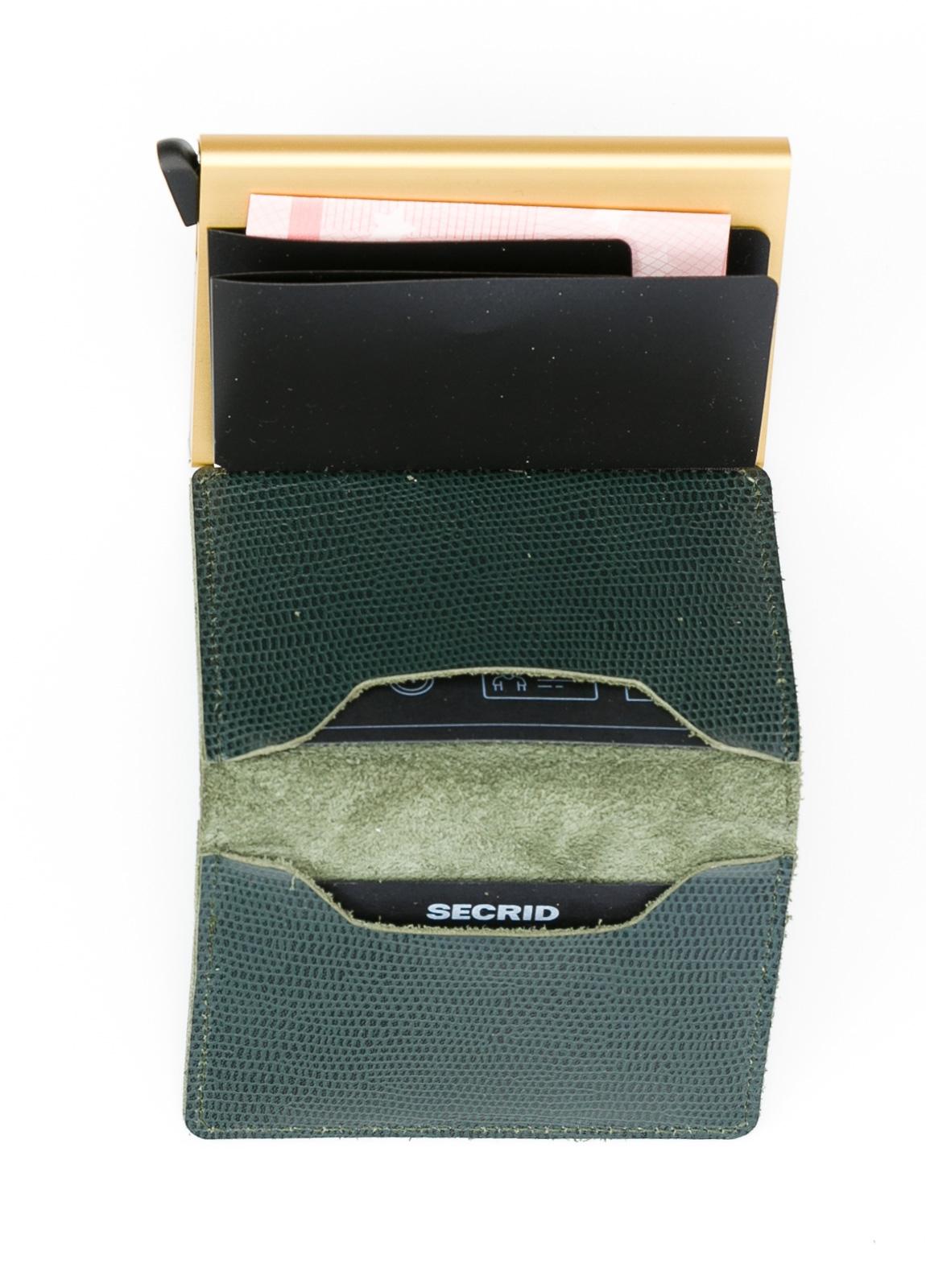 Secrid slim wallet color verde, con cardprotector de aluminio ultrafino. - Ítem1