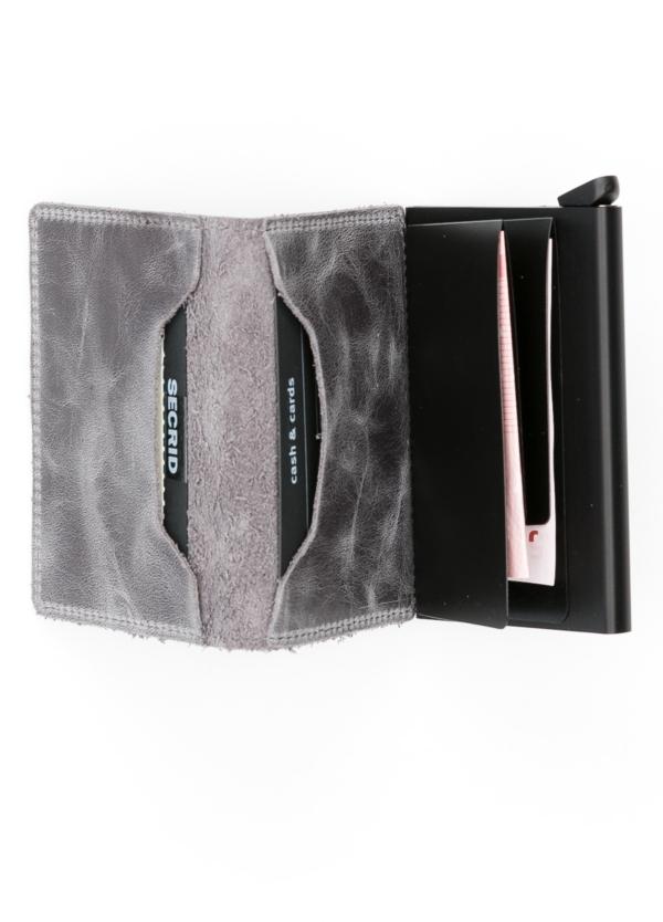 Secrid slim wallet piel color gris perla, con cardprotector de aluminio ultrafino. - Ítem1