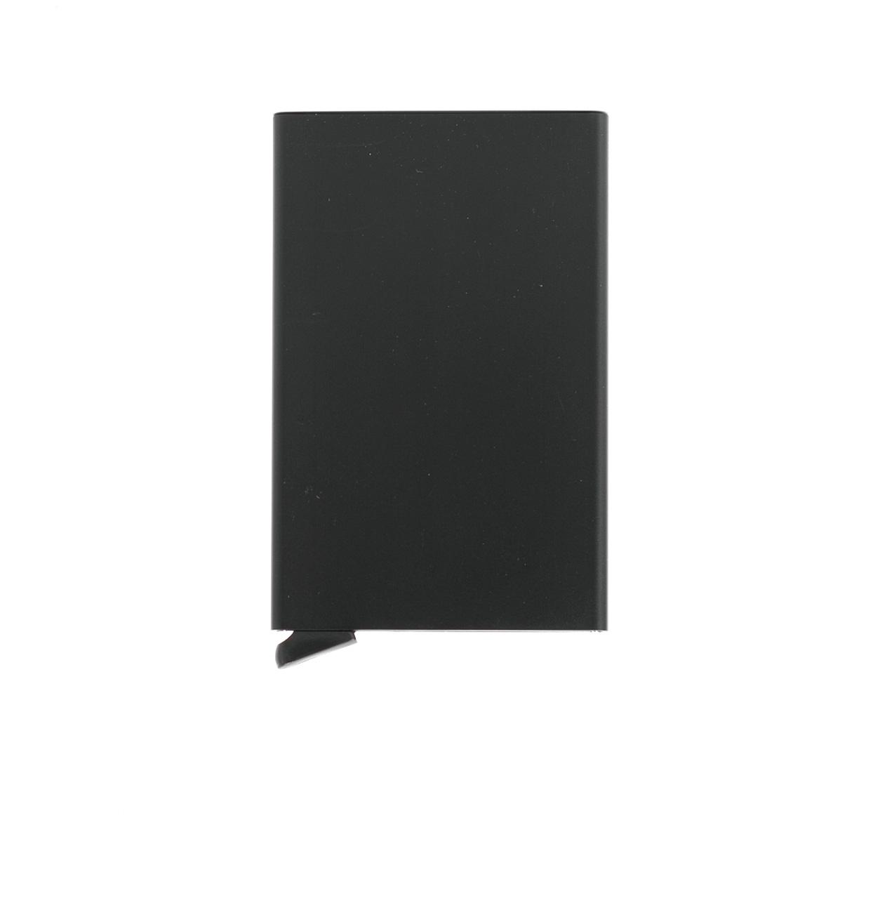 Secrid slim wallet con cardprotector de aluminio ultrafino, color negro.