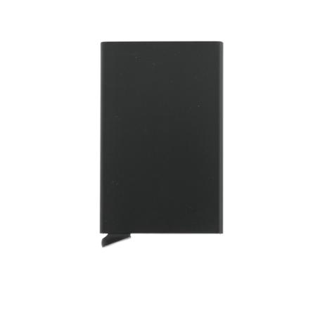 Tarjetero Secrid slim wallet aluminio negro.