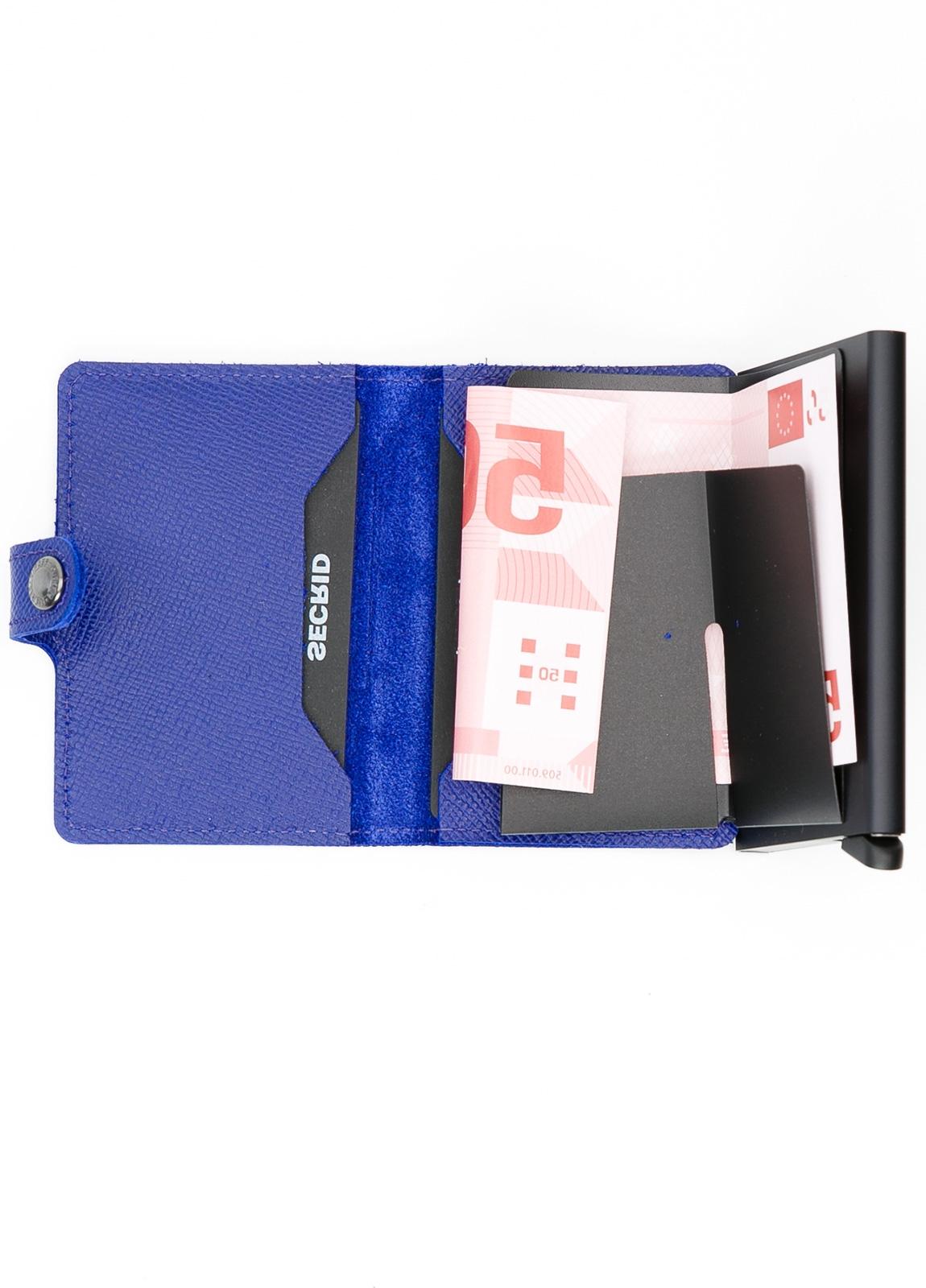 Secrid MINIWALLET. Piel color azul tinta, con cardprotector de aluminio ultrafino. - Ítem1