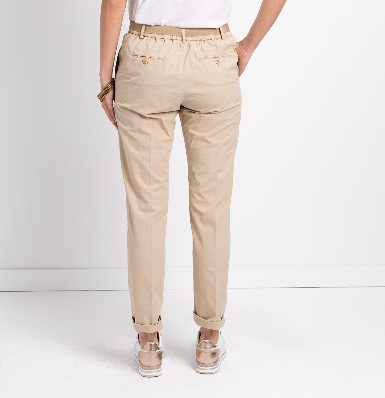 Pantalón soft woman modelo PAPILLON color beige. - Ítem2
