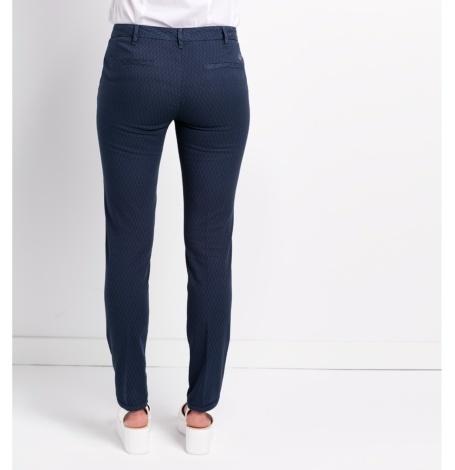 Pantalón slim fit modelo MARILYN, micro textura color azul. - Ítem1