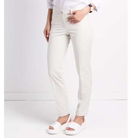 Pantalón woman regular fit color crudo