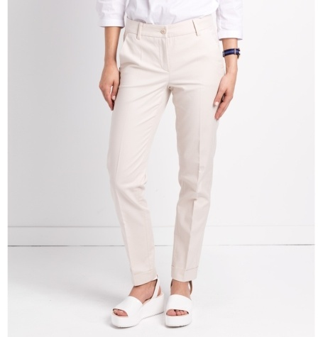 Pantalón woman regular fit color beige
