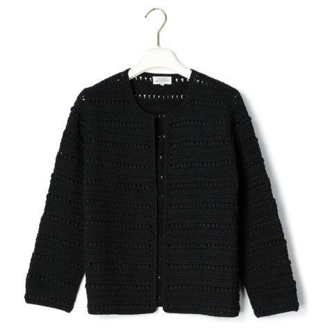 Chaqueta calada corte Chanel modelo MADAM, color negro.