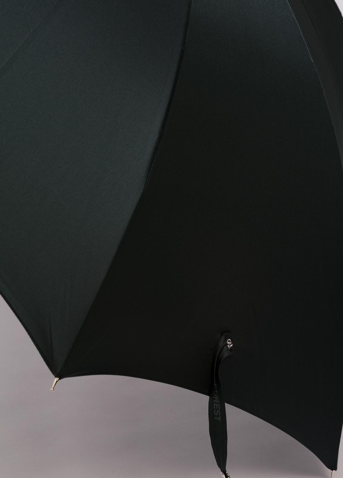 Paraguas con diseño liso color verde y puño de madera. - Ítem1