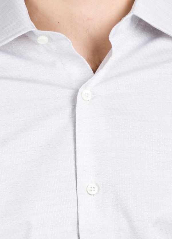 Camisa Formal Wear SLIM FIT cuello italiano modelo ROMA microtextura color gris. 100% Algodón. - Ítem1