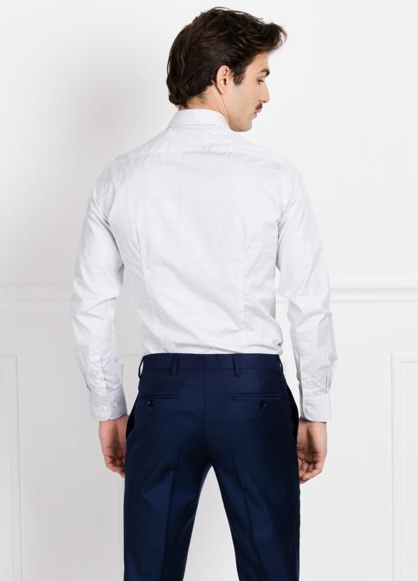 Camisa Formal Wear SLIM FIT cuello italiano modelo ROMA microtextura color gris. 100% Algodón. - Ítem2