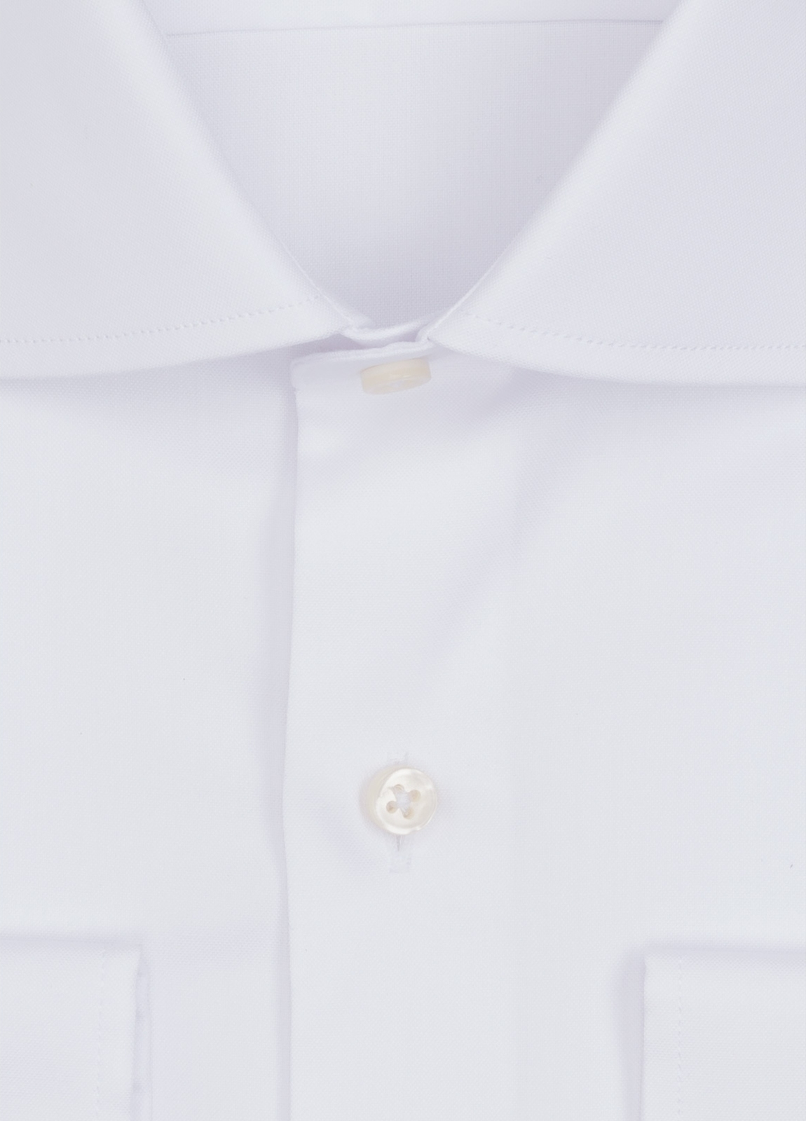 Camisa Formal Wear REGULAR FIT cuello italiano modelo TAILORED NAPOLI color blanco. 100% Algodón. - Ítem1