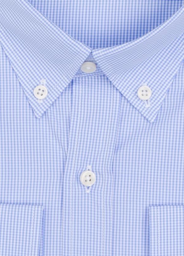 Camisa Formal Wear REGULAR FIT modelo BOTTON DOWN cuadrito vichy, color azul. 100% Algodón. - Ítem1