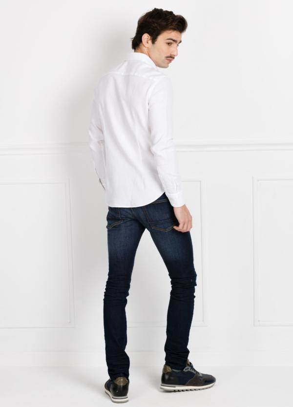 Camisa Leisure Wear SLIM FIT Modelo CAPRI color blanco nido de abeja. 100% Algodón. - Ítem1