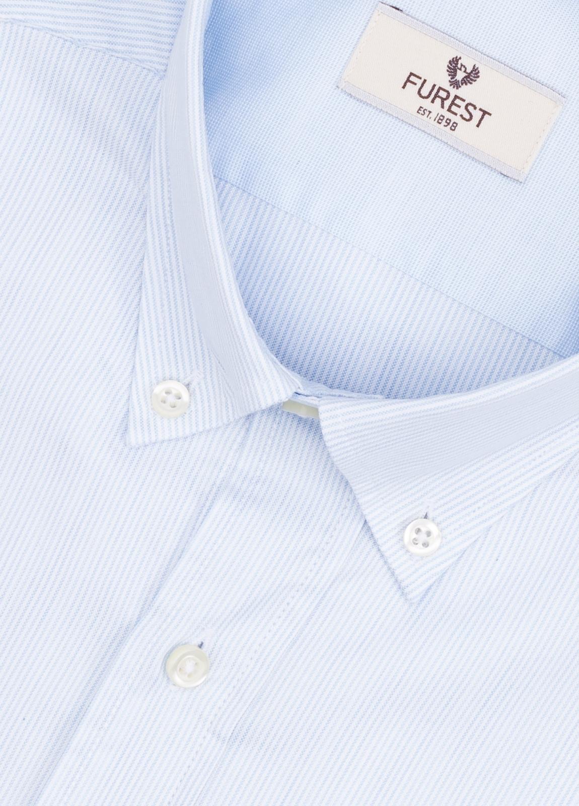 Camisa Leisure Wear REGULAR FIT Modelo BOTTON DOWN color celeste. 100% Algodón. - Ítem4