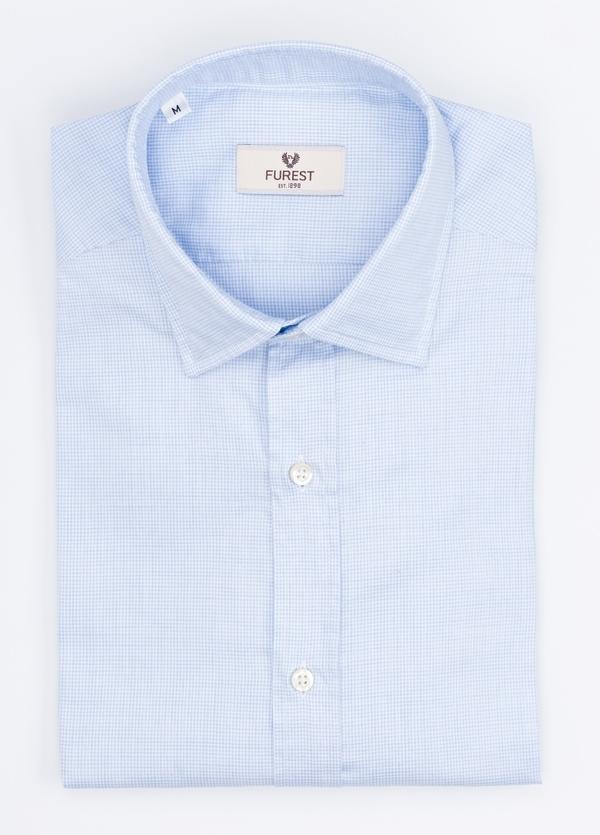 Camisa Leisure Wear REGULAR FIT modelo PORTO color celeste. 100% Algodón.
