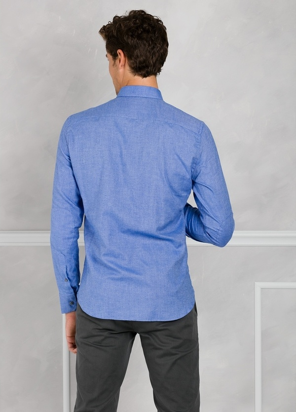 Camisa Leisure Wear REGULAR FIT Modelo BOTTON DOWN color azul. 100% Algodón. - Ítem2