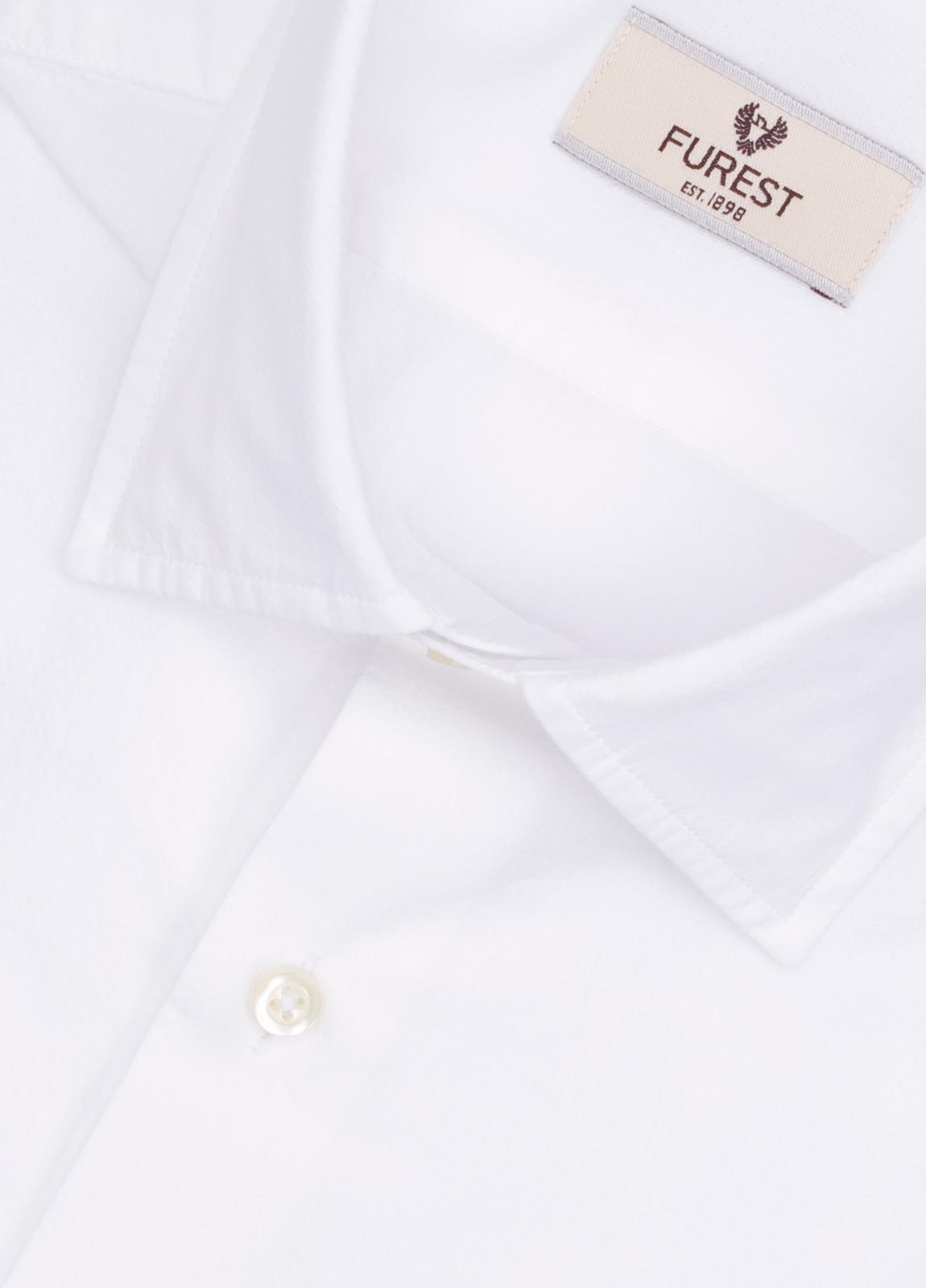 Camisa Leisure Wear SLIM FIT modelo PORTO color blanco. 100% Algodón. - Ítem1