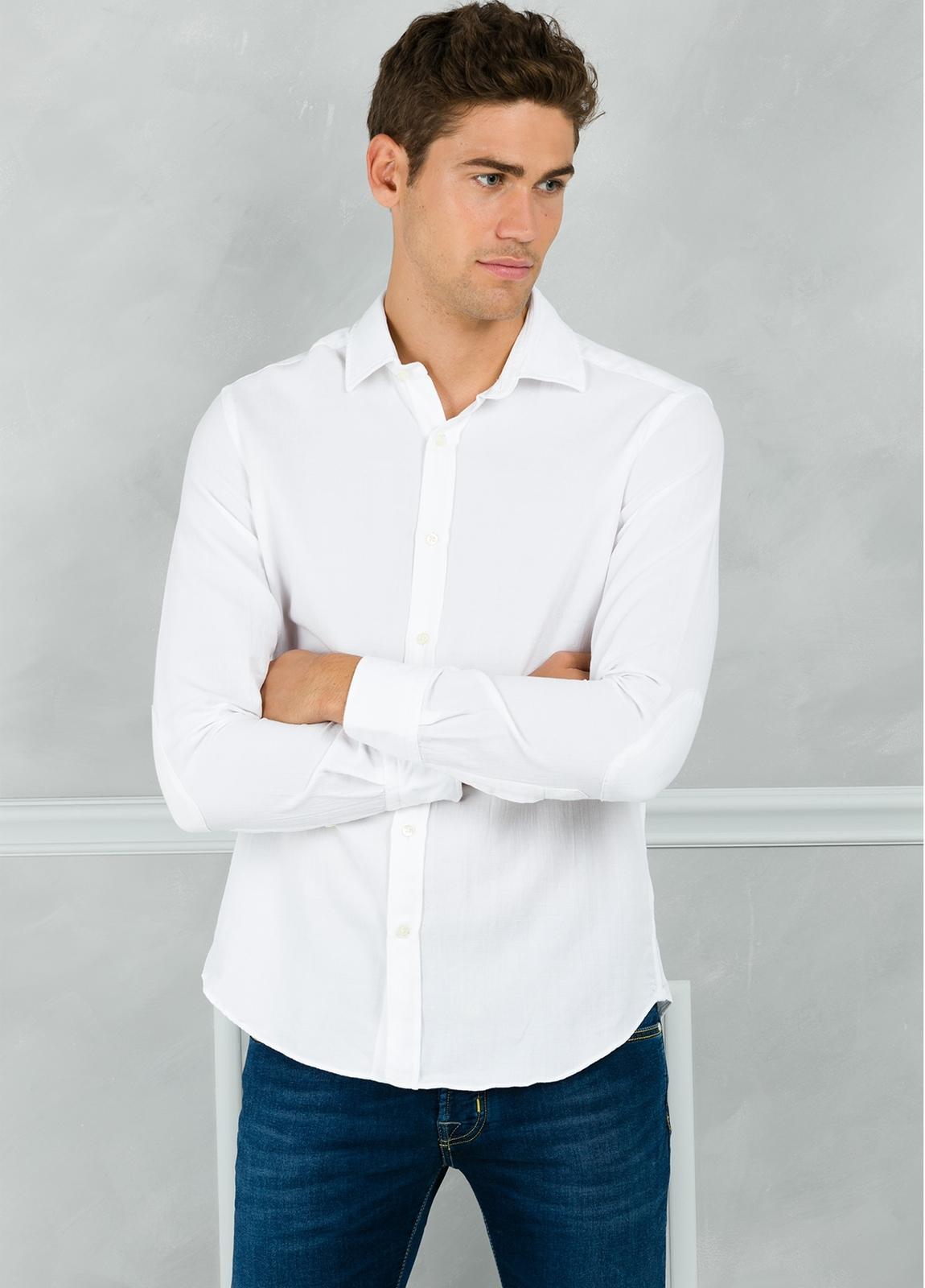 Camisa Leisure Wear REGULAR FIT modelo PORTO color blanco. 100% Algodón. - Ítem2