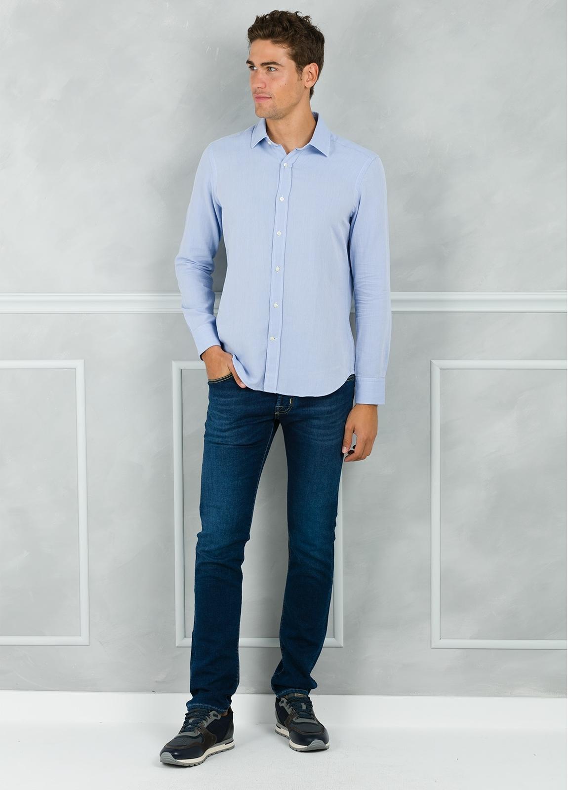 Camisa Leisure Wear REGULAR FIT modelo PORTO color azul. 100% Algodón. - Ítem2