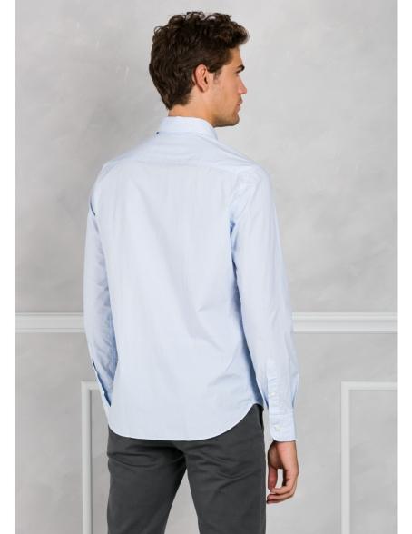 Camisa Leisure Wear REGULAR FIT modelo PORTO microdibujo color azul. 100% Algodón. - Ítem2