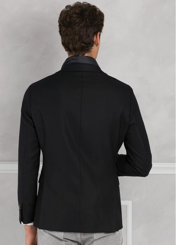 Americana SOFT JACKET Slim Fit con pecherín interior color azul marino. 100% Lana. - Ítem4