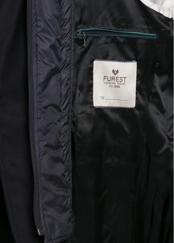 Americana SOFT JACKET Slim Fit con pecherín interior color azul marino. 100% Lana. - Ítem1