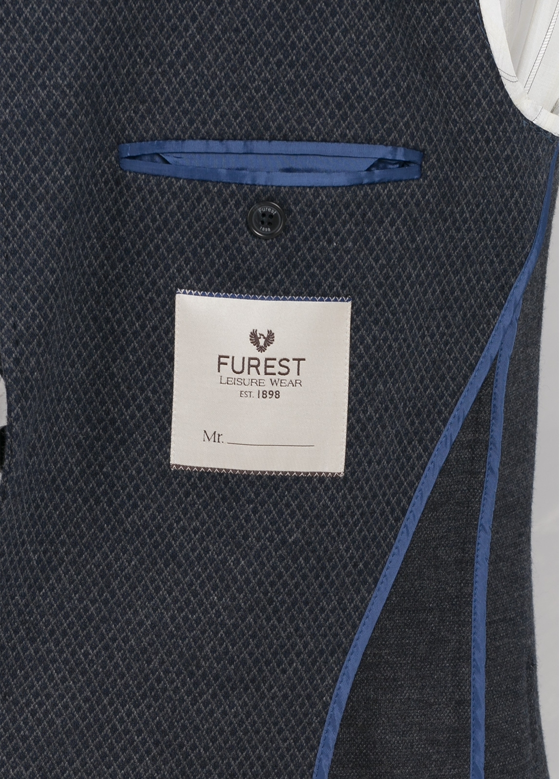 Americana de punto ligeramente slim fit color azul marino, 65% Algodón 35% Lana. - Ítem1
