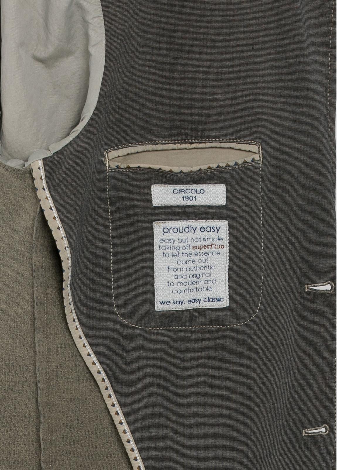 Americana soft 2 botones SLIM FIT color marrón. Doble felpa. - Ítem3