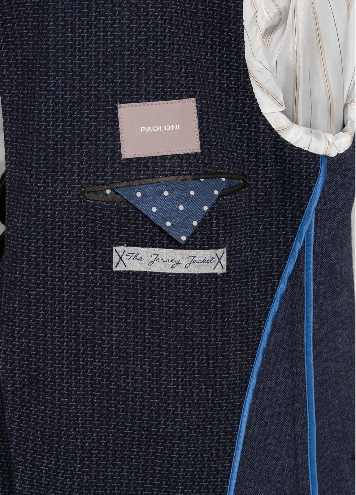 Americana de punto SLIM FIT color azul marino. Lana, algodón y acrílico. - Ítem1