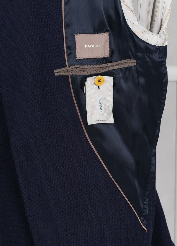 Americana 3 botones SLIM FIT color azul con botones plateados. 62% Lana 38% Algodón. - Ítem2