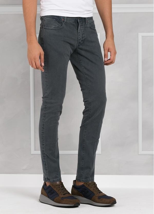 Pantalón 5 bolsillos SLIM FIT modelo FRED 75 color gris. 97% Algodón 3% Elastán.