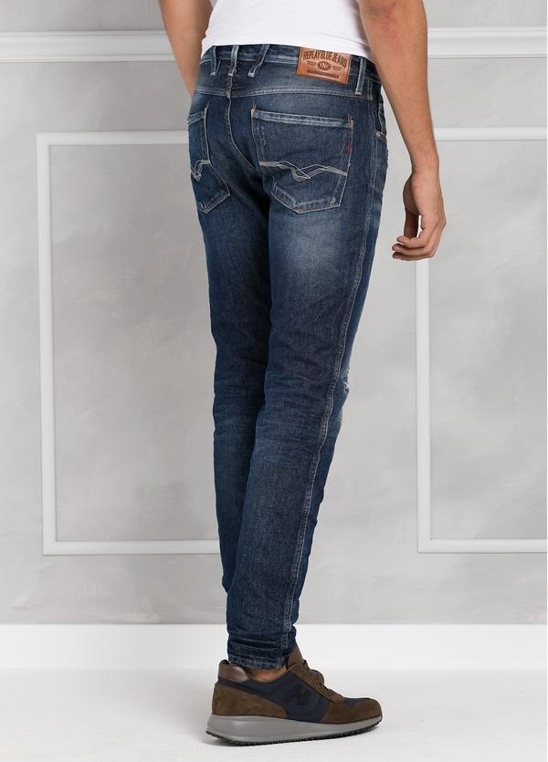 Pantalón tejano 13 oz SLIM M914 AMBAS color azul medio lavado. 99% Algodón 1% Elastán. - Ítem1