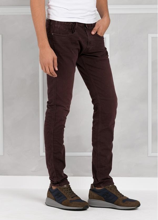 Pantalón tejano 9,5 oz SLIM M914 ANBASS color granate lavado. 98% Algodón 2% elastán. - Ítem2